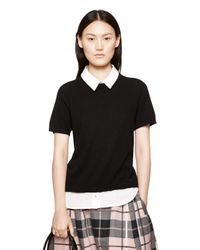 kate spade new york | Black Shirttail Sweater | Lyst