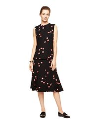 kate spade new york - Black Falling Florals Top - Lyst