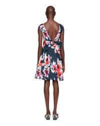 Kate Spade - Multicolor Hazy Floral Bow Back Dress - Lyst