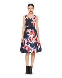 kate spade new york - Multicolor Hazy Floral Midi Skirt - Lyst