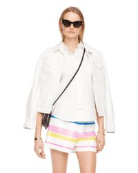 dc8215499fe Lyst - Kate Spade Downtown Denim Jacket in White