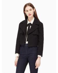 kate spade new york   Black Boucle Jacket   Lyst