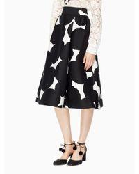 Kate Spade | Black Blot Dot Midi Skirt | Lyst