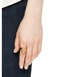 kate spade new york - Multicolor Into The Woods Hedgehog Ring - Lyst