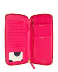 kate spade new york - Pink Cedar Street Maia Travel Wallet - Lyst