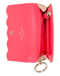 kate spade new york | Natural Cherry Lane Laurie Wristlet Surprise Coral | Lyst