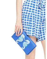 kate spade new york | Blue Breath Of Fresh Air Seahorse Applique Cali | Lyst