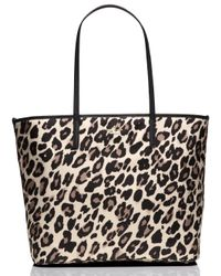 kate spade new york | Multicolor Classic Nylon Leopard Harmony Baby Bag | Lyst