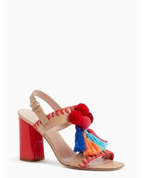 kate spade new york | Natural Central Heels | Lyst
