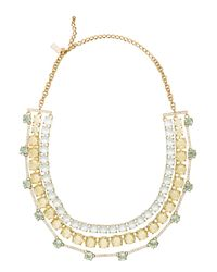 kate spade new york | Metallic Carnival Crystal Statement Necklace | Lyst