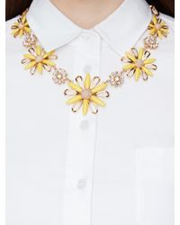 kate spade new york - Metallic Daisy Dreams Statement Necklace - Lyst