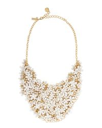 kate spade new york | Metallic Pretty Petals Statement Necklace | Lyst