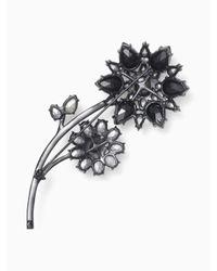 kate spade new york - Black Trellis Blooms Large Brooch - Lyst