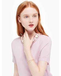 kate spade new york - Pink Chantilly Charm Cuff - Lyst