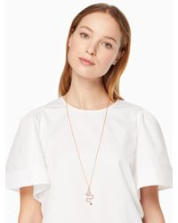 Kate Spade - Multicolor Spice Things Up Snake Pendant - Lyst