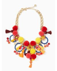 kate spade new york   Multicolor Pretty Poms Statement Necklace   Lyst
