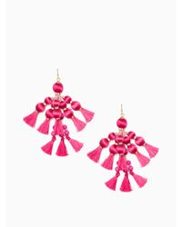 Kate Spade | Pink Pretty Poms Tassel Statement Earrings | Lyst