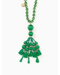 Kate Spade - Green Pretty Poms Tassel Pendant - Lyst