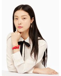 Kate Spade - Multicolor Wrap Things Up Leather Bow Wrap Bracelet - Lyst