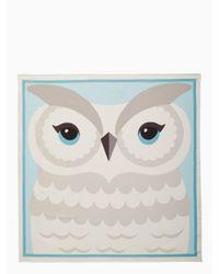 Kate Spade - Multicolor Owl Silk Square Scarf - Lyst