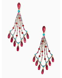 Kate Spade - Multicolor Cascade Statement Earrings - Lyst