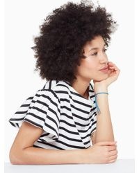Kate Spade - Blue Say Yes Be Bold Slider Bracelet - Lyst