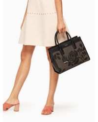 Kate Spade - Black Cameron Street Perforated Candace Satchel - Lyst