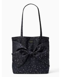 Kate Spade - Black Starry Night Fabric Tote - Lyst