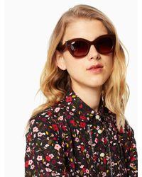 Kate Spade - Brown Jalena Sunglasses - Lyst