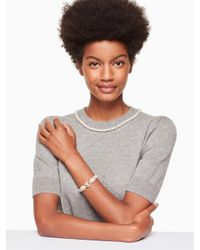 Kate Spade - Multicolor Star Bright Owl Bangle - Lyst