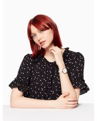 Kate Spade - Multicolor Holland Floral Leather Watch - Lyst