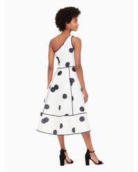 Kate Spade - White Dee Dot Emy Dress - Lyst