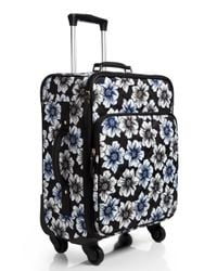 kate spade new york - Blue Classic Nylon Hazy Floral International Carry-on - Lyst