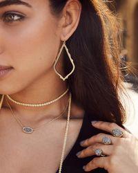 Kendra Scott - Metallic Elisa Pendant Necklace In Bronze Veined Turquoise - Lyst