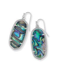 Kendra Scott - Blue Elle Silver Drop Earrings - Lyst