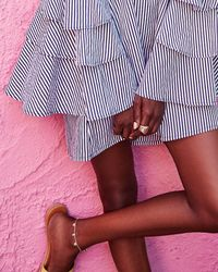 Kendra Scott - Multicolor Tabi Anklet In Rose Gold - Lyst