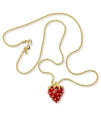Kenneth Jay Lane | Red Strawberry Necklace | Lyst