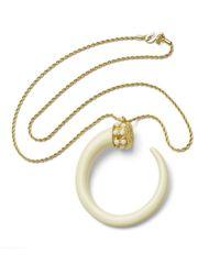 Kenneth Jay Lane | Metallic Ivory Tusk Necklace | Lyst
