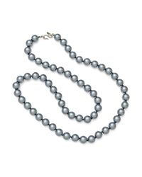 "Kenneth Jay Lane | Gray 36"" Grey Pearl Necklace 