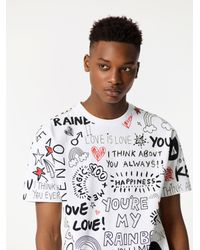KENZO   White You Are My Rainbow' T-shirt for Men   Lyst
