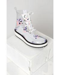 KENZO - White Iris Angus Boots - Lyst