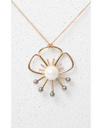 KENZO - Metallic Flower Necklace - Lyst