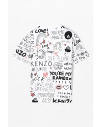 KENZO - White You Are My Rainbow' T-shirt for Men - Lyst