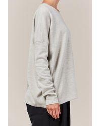 Studio Nicholson Gray Sivan Knit Sweater