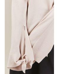 Tibi - Multicolor Merino Wool Tie Sleeve Sweater - Lyst