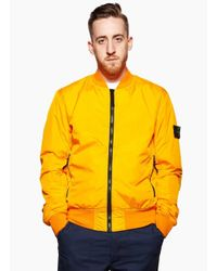 Stone Island | Yellow Light Overcoat for Men | Lyst
