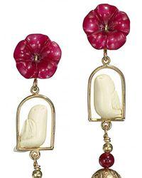 Of Rare Origin - Multicolor Swinger Beaded Tassel Drop Earrings - Lyst
