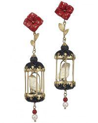 Of Rare Origin - Metallic Aviary Classic Mini Drop Earrings - Lyst