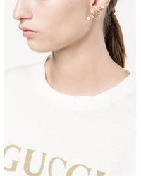 Yvonne Léon - Metallic Circle Bar Stud Earrings - Lyst