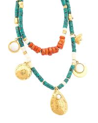 Lizzie Fortunato - Green Tahitian Cowgirl 2 Necklace - Lyst